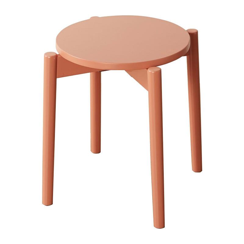 doxa现代简约凳子实木居家餐凳时尚创意板凳家用彩色卡通化妆圆凳图片