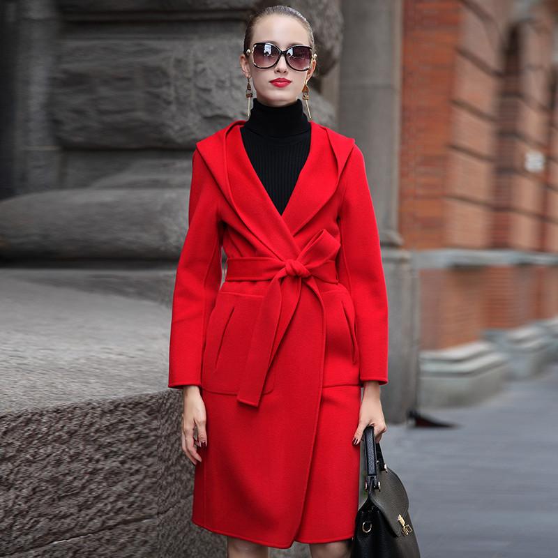 女羊绒大衣中长款 新款价格 批发拿货,货源 前店后厂图片