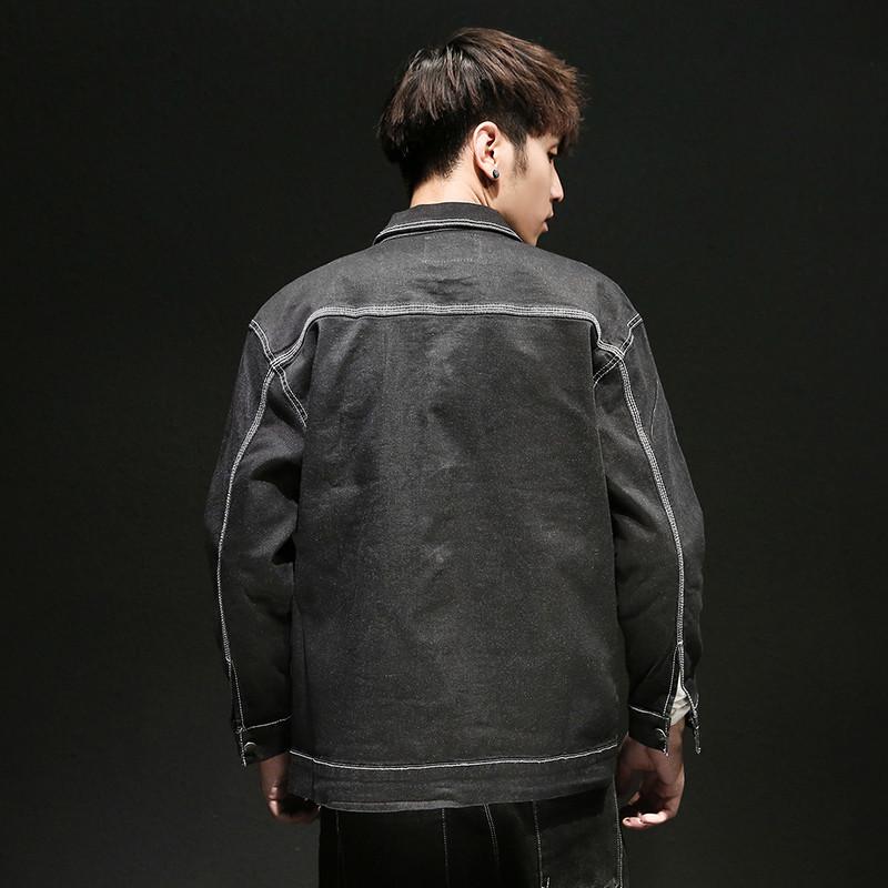 特价牛仔外套男2017新款韩版潮牌长袖简约黑色弹力牛仔衣男士夹克上衣