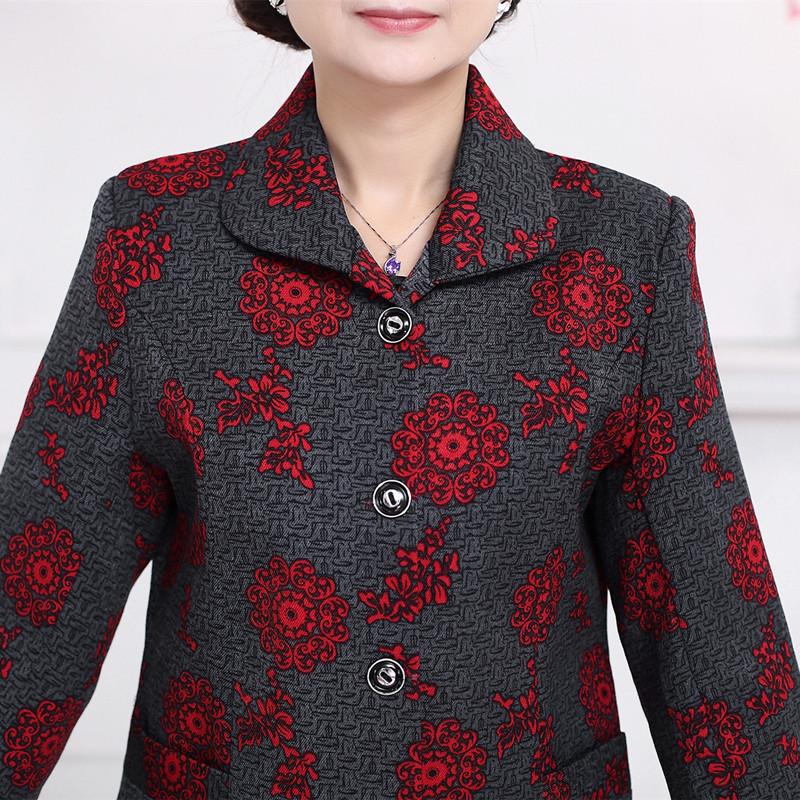 bw9新款老年人春装奶奶装外套老人女装衣服春秋60-70