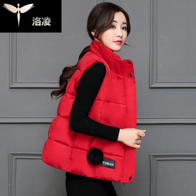 棉袄马甲女士装通勤衣服学生坎肩拉链马夹外套
