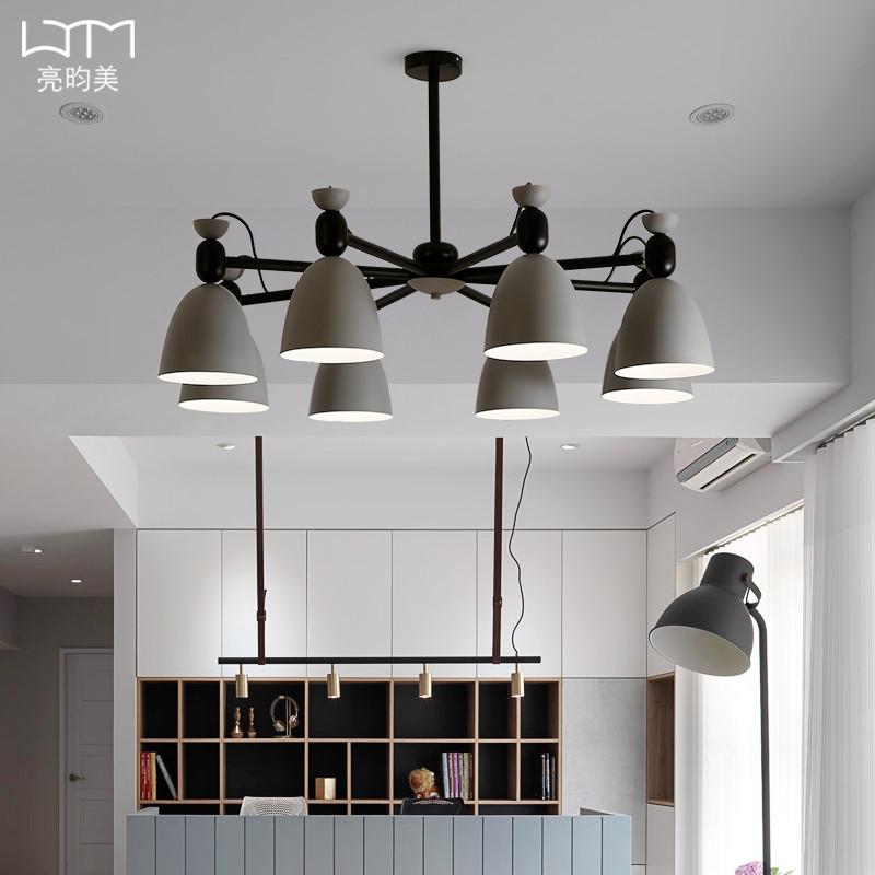 北欧风格灯具马卡龙客厅吊灯简约现代卧室餐厅吊灯创意大气客厅灯