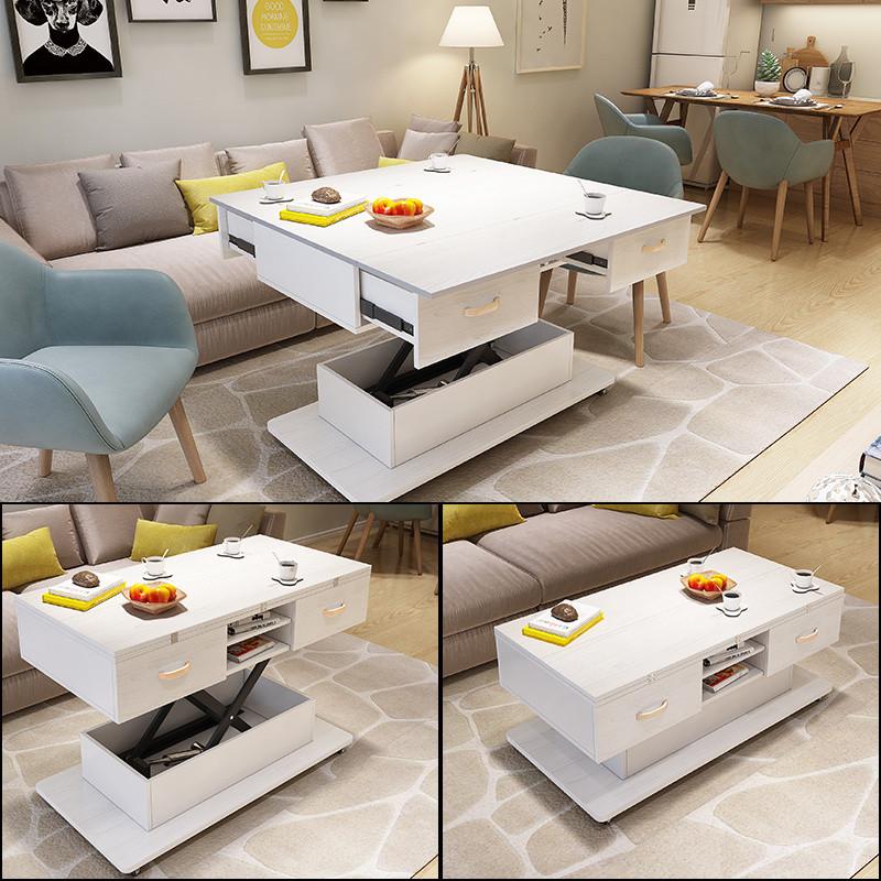 多功能电动可升降茶几餐桌 小户型储物客厅伸缩折叠茶几餐桌两用