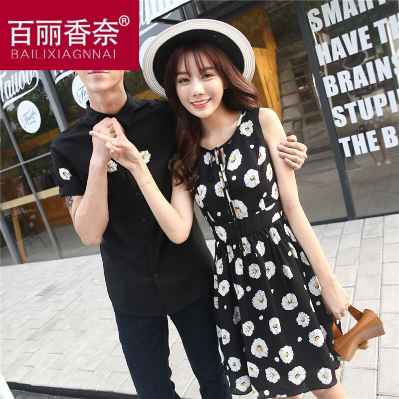 新款情侣装夏装2017新款潮上衣显瘦短袖t恤韩版学生女