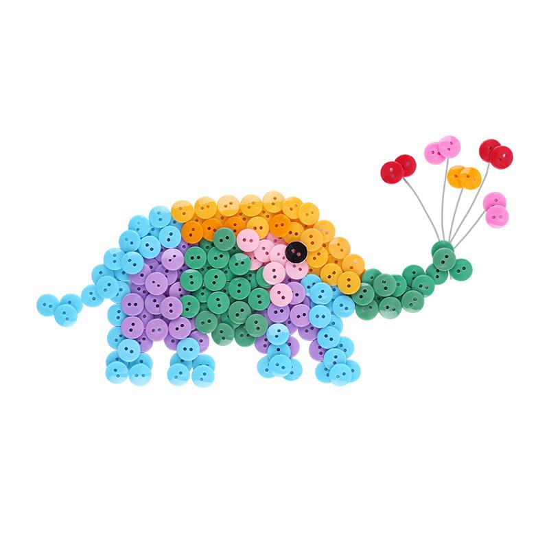 mobee 莫贝儿童手工diy纽扣贴画3-6岁幼儿园手工劳作儿童早教益智创意图片