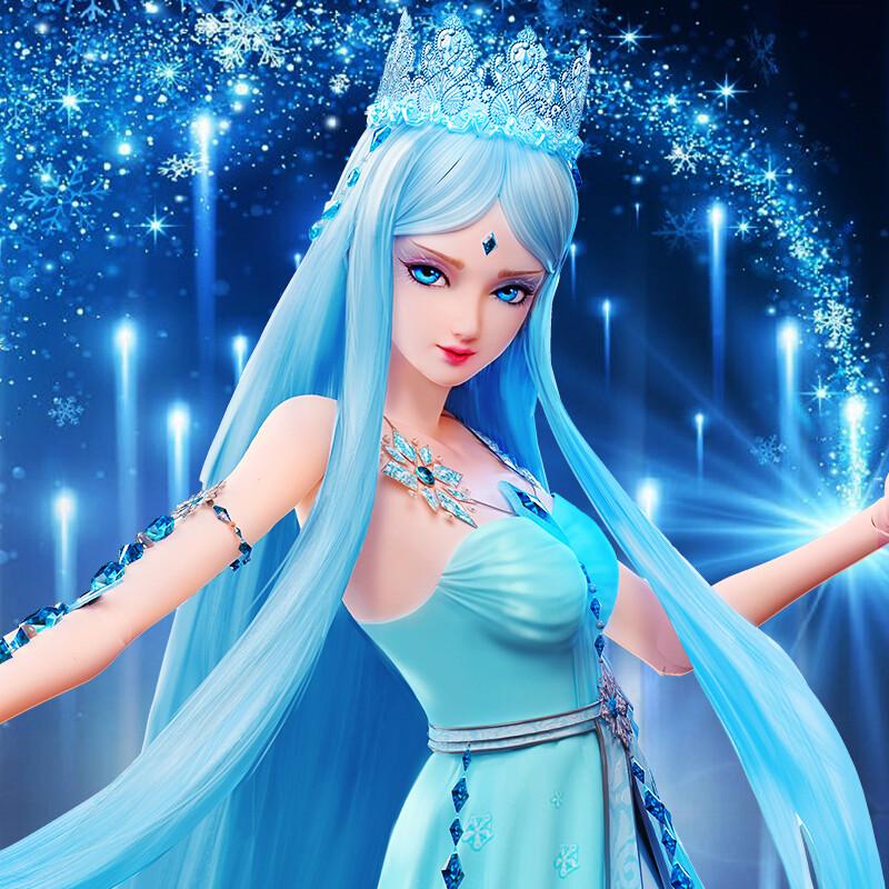 叶罗丽芭比娃娃叶萝莉蓝冰公主仙子精灵梦夜萝莉正品孔雀全套女孩玩具