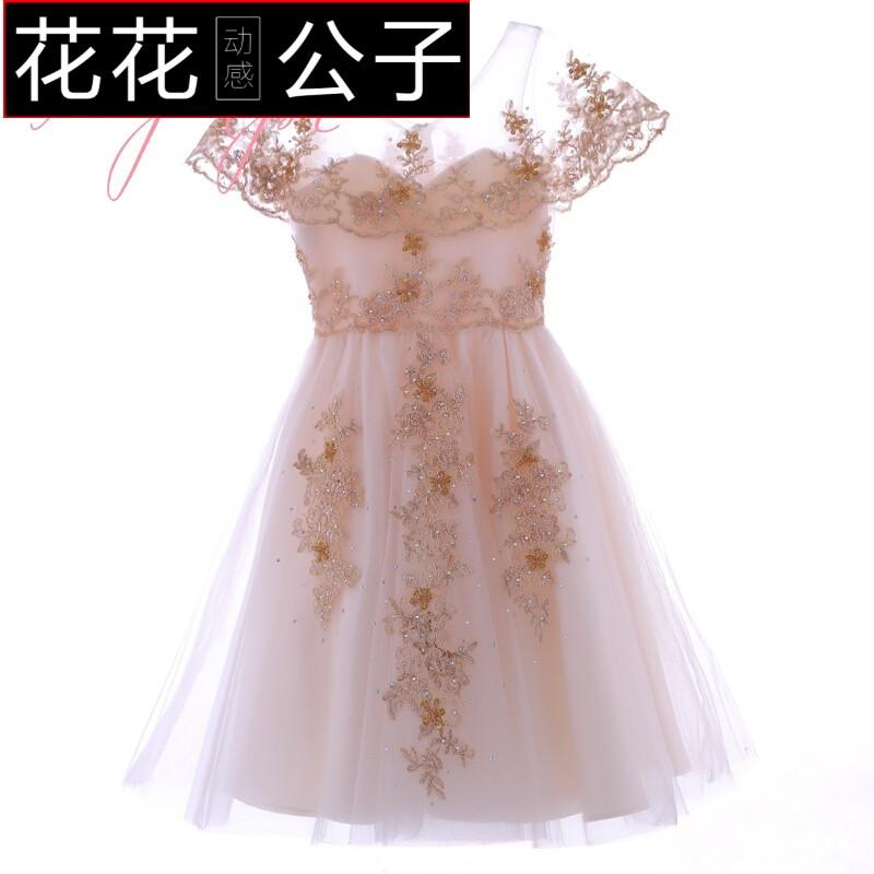 儿童礼服生日公主裙女花童婚纱礼服蓬蓬裙演出服钢琴主持走秀礼服图片图片