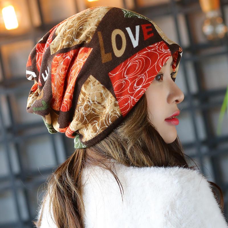 新款帽子女秋冬韩版包头帽时尚头巾帽保暖帽两用围脖发带帽休闲套头帽