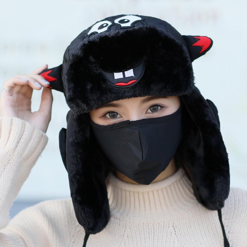 新款帽子女冬天潮韩版可爱百搭棉帽男女孩儿童冬季保暖加厚护耳雷锋帽