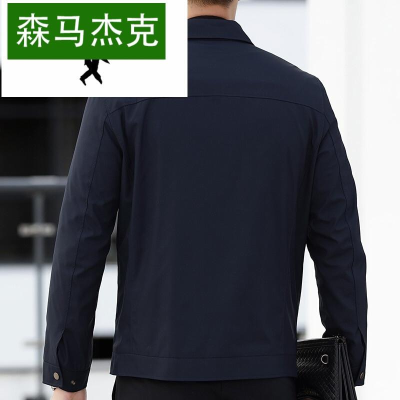 杰克爱格堡秋秋季新款中年男士薄款外套爸爸装商务翻领男装休闲夹克男图片
