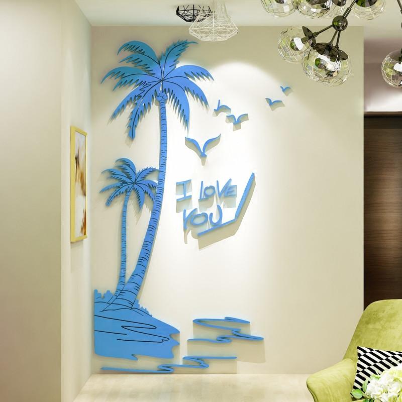 舒厅创意家居 3d立体墙贴客厅卧室水晶欧式亚克力背景墙贴 电视沙发地
