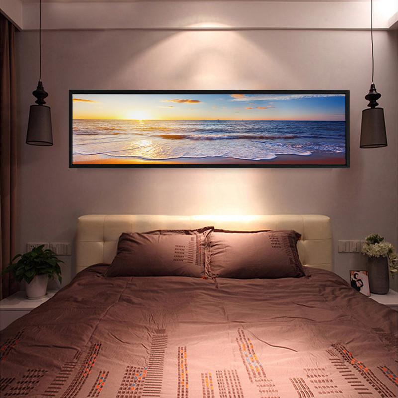 舒厅创意家居 床头装饰画现代简约风景书房壁画油画布