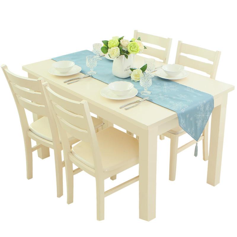 欧式简约纯色布艺餐桌旗布餐桌装饰布长条现代北欧蓝色桌旗茶几旗