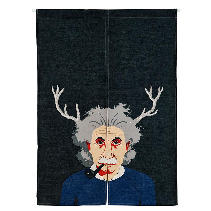 爱因斯坦英伦后现代门帘简约门帘风水帘子卧室厨房隔断帘半帘图片
