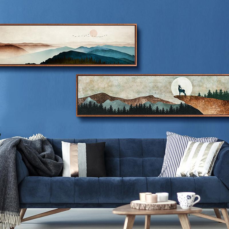 信仰 现代简约客厅装饰画走廊餐厅卧室床头挂画长条