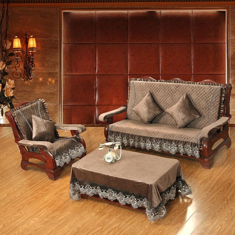 加厚海绵定做实木沙发坐垫带靠背四季中式防滑联邦连体红木椅垫子