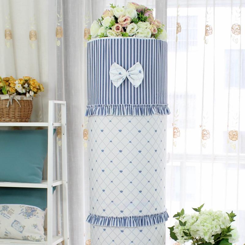 圆形空调罩美的格力海尔圆柱形立式柜式空调罩防尘罩布艺
