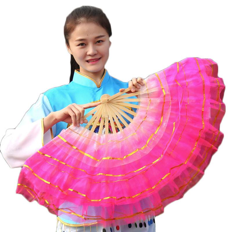 供户外舞蹈扇五层水晶纱跳舞扇祖国颂基督教纱
