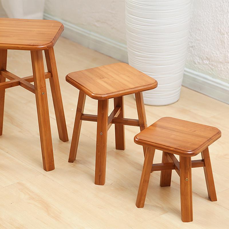 小凳子家用时尚儿童小板凳成人实木竹子小木凳创意坐凳方圆凳矮凳图片