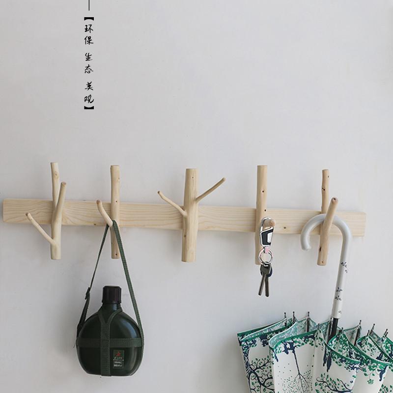 热卖衣帽钩实木玄关名宿原木树枝创意纯手工田园环保挂衣架图片