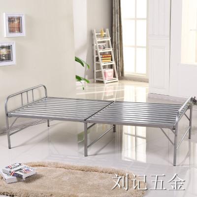 加固铁床钢床龙骨床单人床折叠床午休床钢条床两折床铁条床