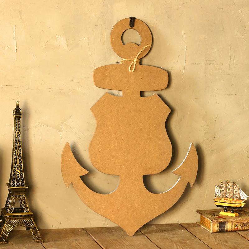 复古装饰画家居客厅创意船锚木板挂画壁挂酒吧装饰品壁饰