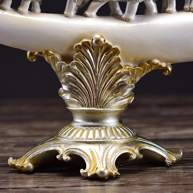 欧式象牙摆件招财大象 创意客厅家居装饰品玄关酒柜电视柜工艺品