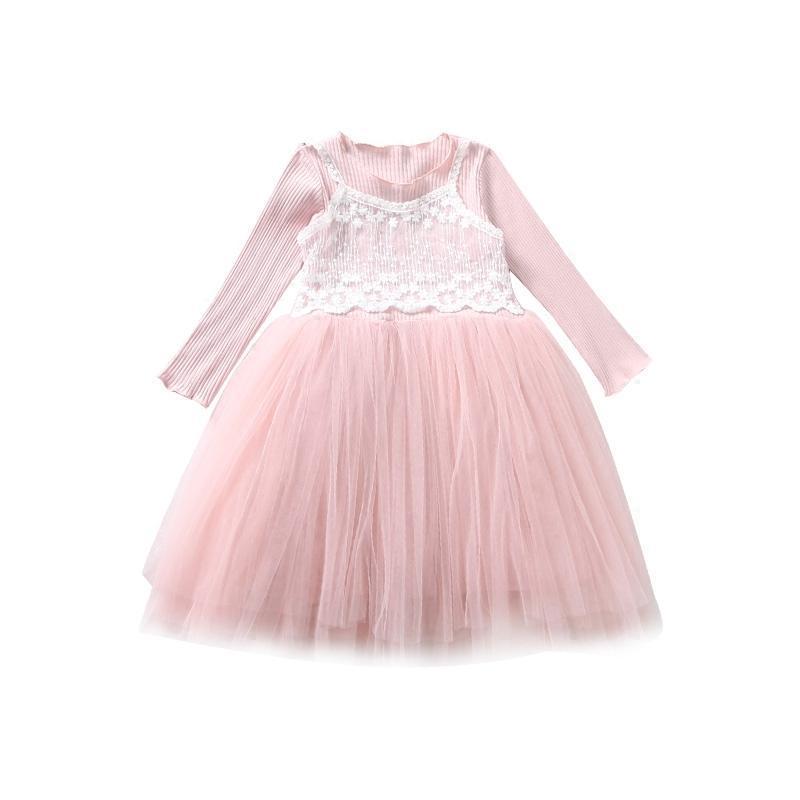 蕾丝蓬蓬裙连衣裙网纱