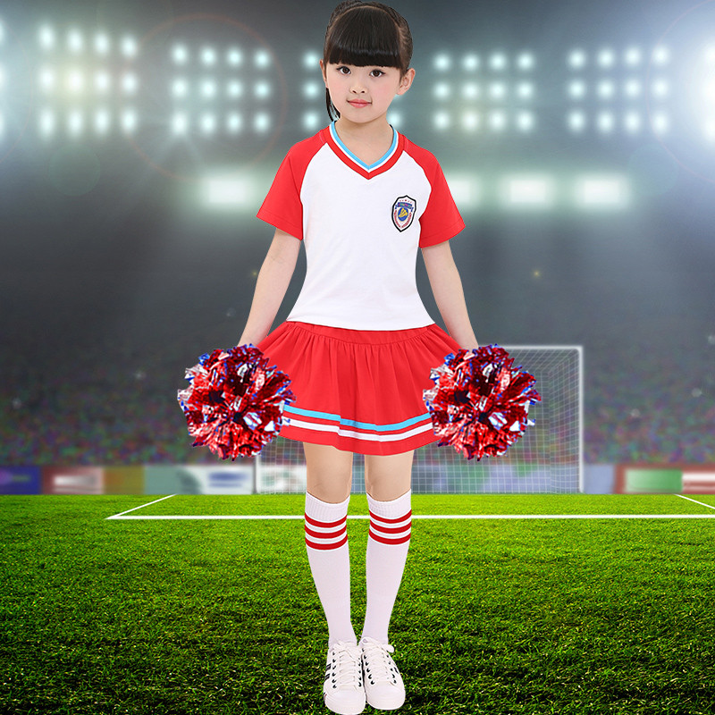 新款六一儿童演出服中小学生啦啦操表演套装女拉拉队舞蹈服装校园校服图片
