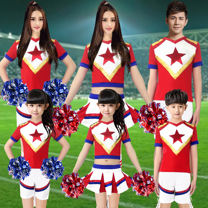 新款啦啦操演出服啦啦队服装女成人儿童拉拉队套装韩版足球学生青春