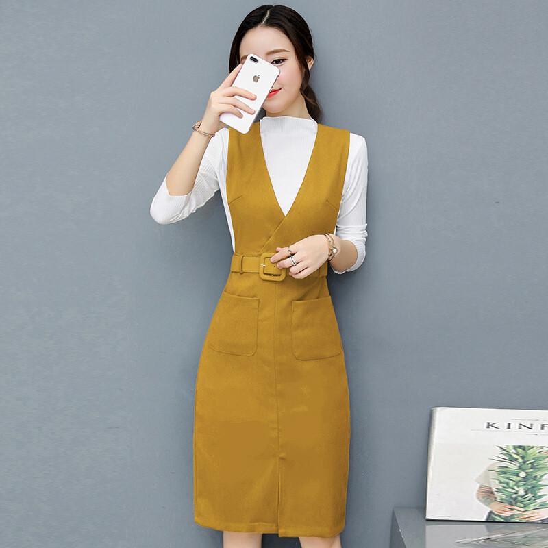 2017新款连衣裙时髦套装秋冬时尚气质女装裙子两件套裙子l5