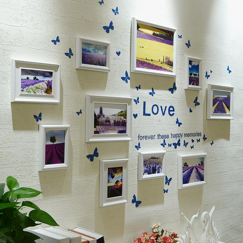 欧式地中海照片墙 相框墙 客厅创意相框组合相片挂墙送墙贴