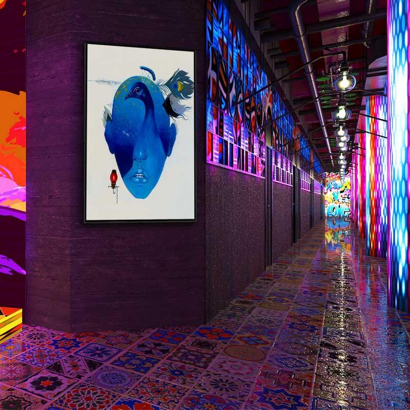 ktv会所创意个性装饰画墙面挂画包厢现代简约壁画走廊过道背景墙