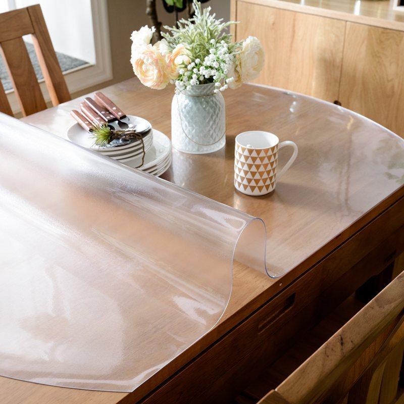 伸缩折叠椭圆形桌布pvc茶几餐桌布防水防烫防油免洗餐桌垫胶垫