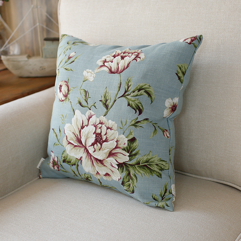 清新田园大花小花碎花叶子靠垫靠枕腰枕抱枕套床头可定制