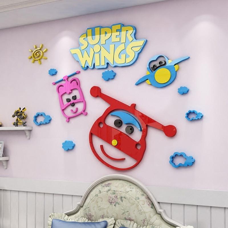 超级飞侠3d立体墙贴画幼儿园儿童房卡通背景墙壁贴纸客厅创意装饰