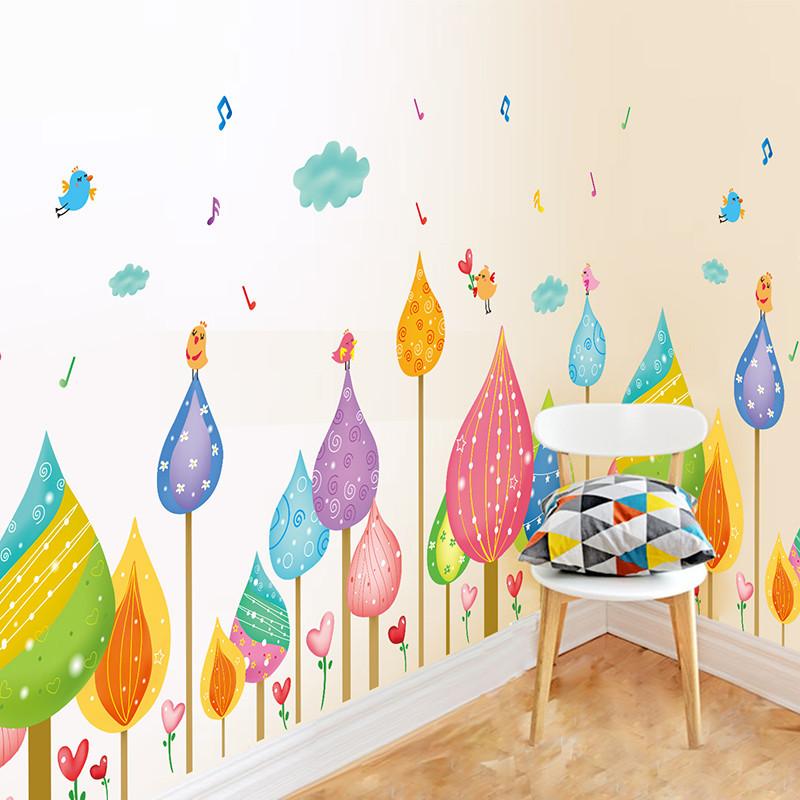 卡通墙角踢脚线墙贴纸腰线贴画儿童房间幼儿园教室墙面装饰品卧室