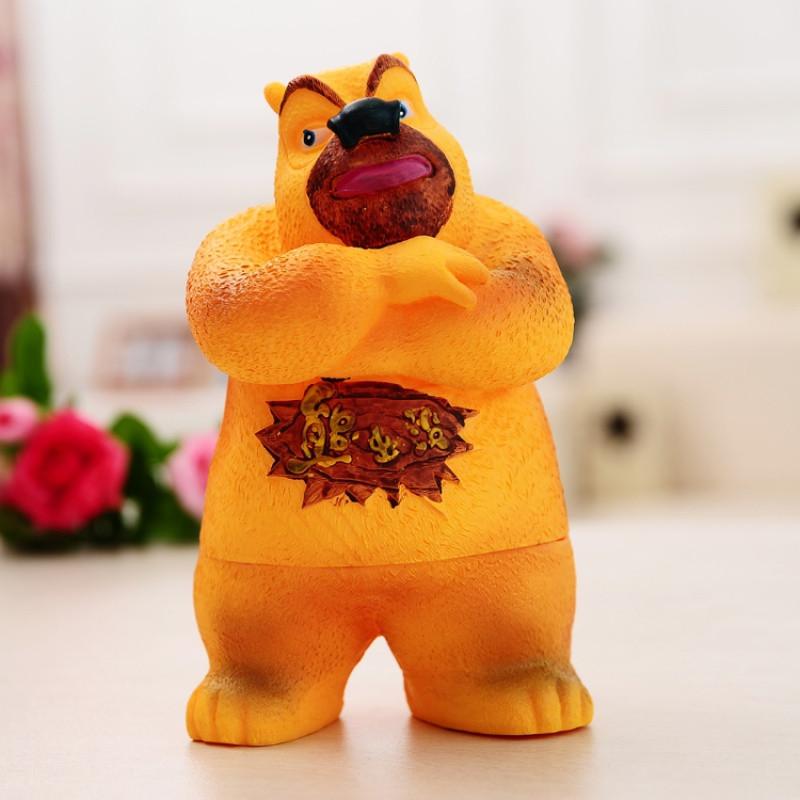 超大号可爱熊出没防摔存钱罐熊大熊二储蓄罐同学生日摆件礼物
