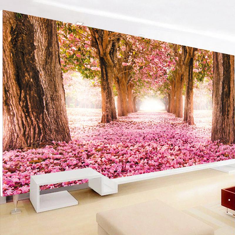 鉆石畫滿鉆新款 客廳浪漫櫻花樹現代貼鉆十字繡結婚臥室清新風景