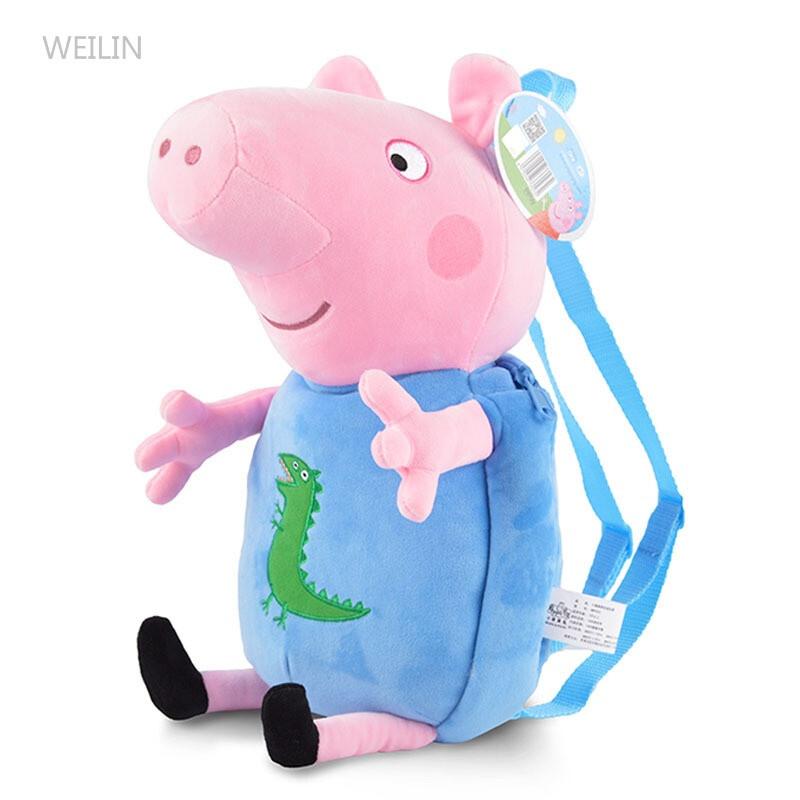 weilin小猪男女童宝宝儿童书包可爱卡通玩具双肩背包幼儿园zy
