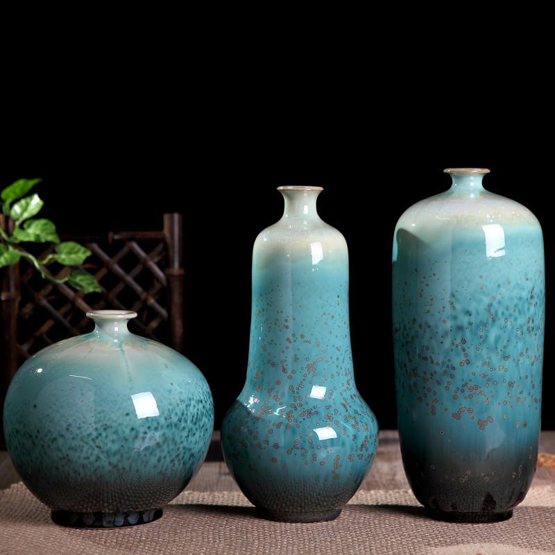 新中式花瓶摆设客厅电视柜摆件艺术品工艺品样板房软装饰品三件套图片