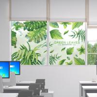 新款特价北欧ins绿植磨砂玻璃贴纸透光不透明窗户贴纸卫生间厨房静电图片