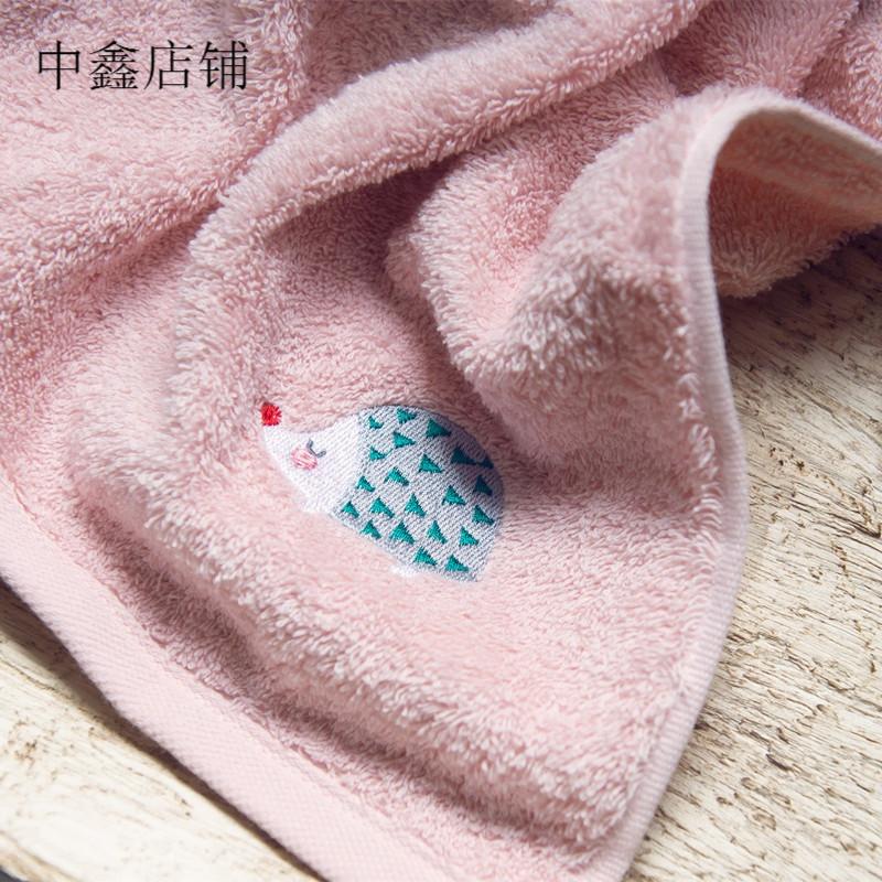 卡通小动物系列小刺猬 狐狸款刺绣毛巾家用面巾