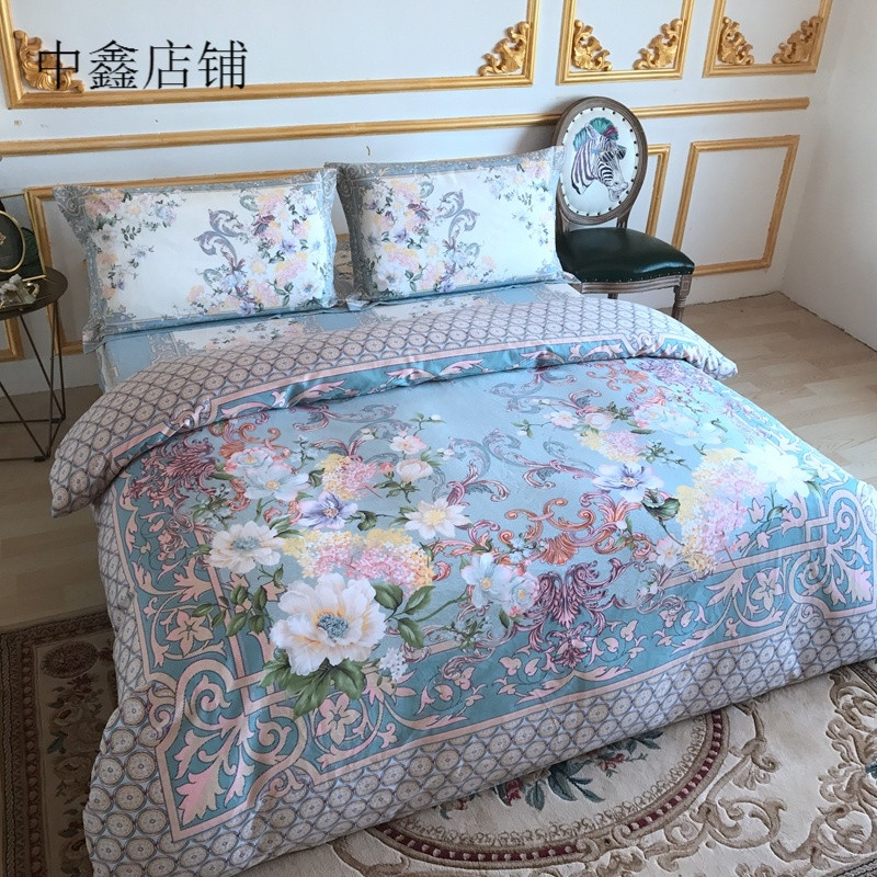 东南亚风秋冬新款加厚双面磨毛保暖床单款床笠款婚庆四件套