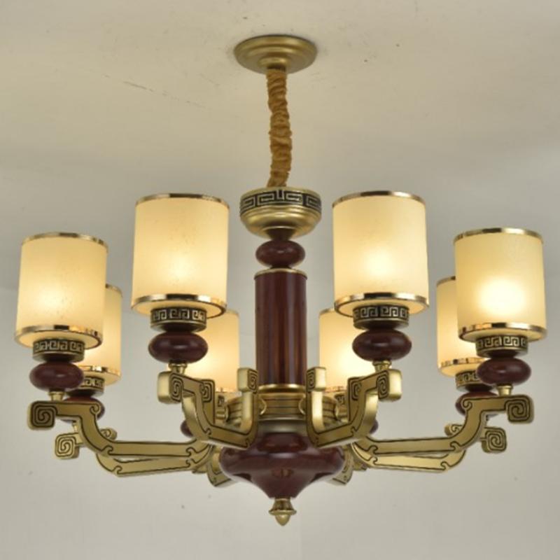 新中式客廳吊燈復古美式吊燈餐廳燈具現代簡約臥室燈中國風中式燈別墅