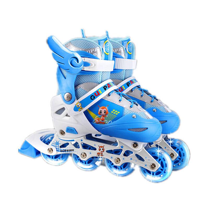 什么旱冰鞋好_户外实用旱冰鞋溜冰鞋儿童全套装旱冰鞋轮滑鞋滑冰鞋男女可调闪光