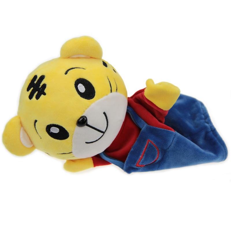 博施 动物手偶毛绒玩具公仔老虎 兔子 大象 小狗 小黄人 亲子早教玩偶