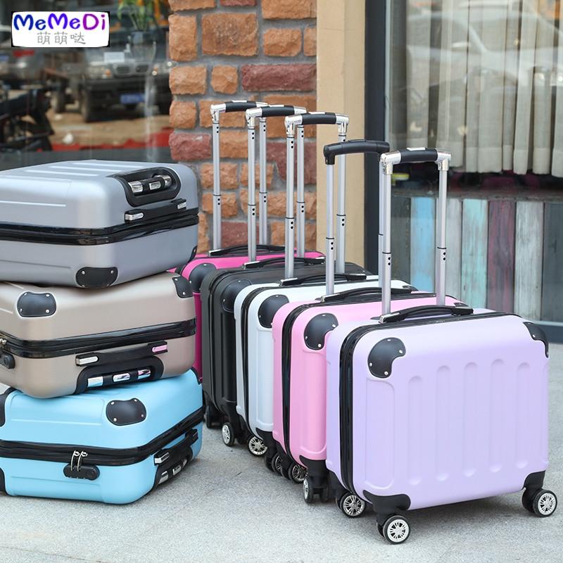 memedi可爱登机箱小型行李箱迷你拉杆箱18寸学生16寸旅行箱密码箱男女