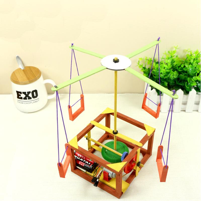 欢乐转盘儿童手工科技小制作材料科学实验 欢乐转盘