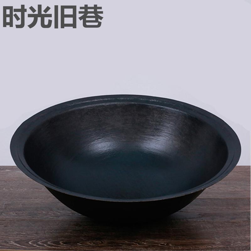 生铁锅品牌_炒锅生铁大铁锅老式传统农家商用无涂层生铁锅